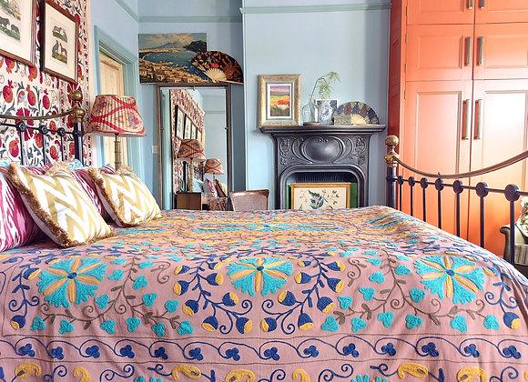 Vasha Embroidered Cotton Suzani
