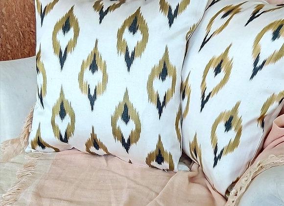 Wild Cat Ikat Cushion