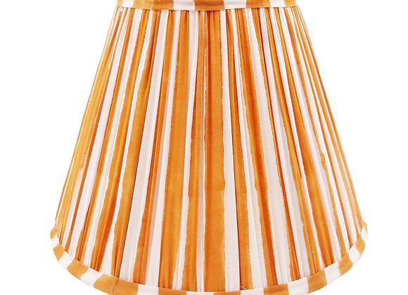 25cm Ochre Stripe Cotton Gathered Lampshade