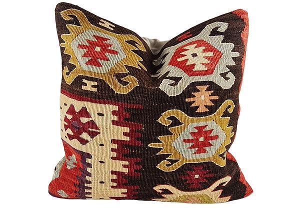 42cm Button Kilim Cushion