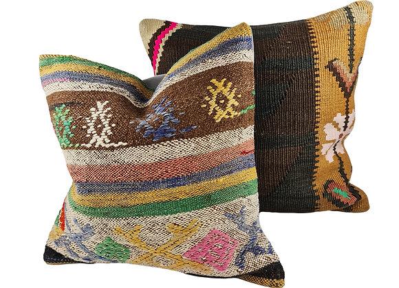 Kilim Cushion Pair - Jardin & Meadow