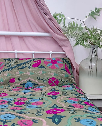 Meadow Embroidered Cotton Suzani