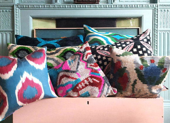 Ruby Blue Double Sided Cushion