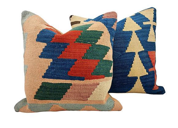 Kilim Cushion Pair - Pyramid & Jack