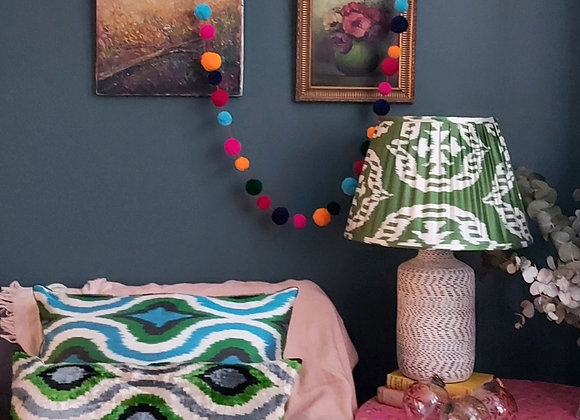 Dew 40cm Silk Ikat Lampshade