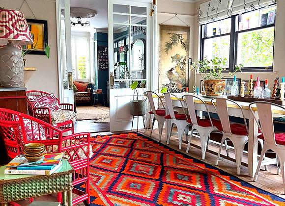 Large Handmade Oriental Wool Kilim