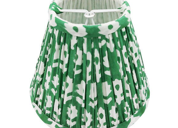 Candle Clip Green Dorothy Cotton Gathered Lampshade