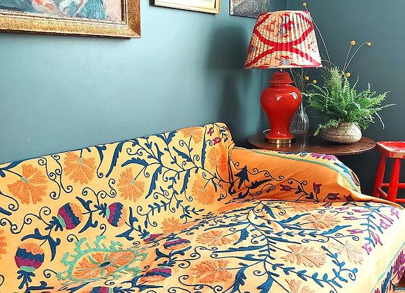 Butterscotch Embroidered Cotton Suzani