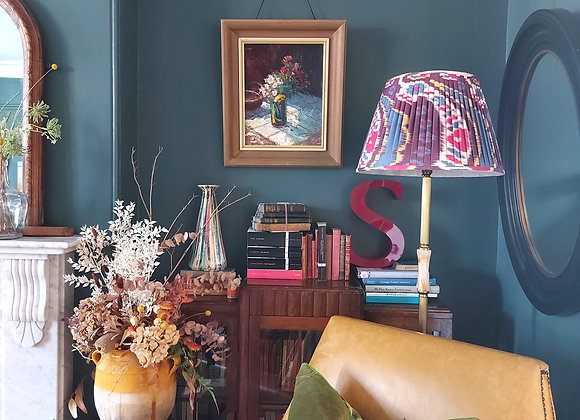 40cm Majestic Double Pleated Silk Lampshade