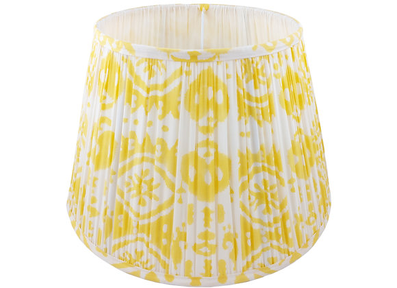 35cm Soleil Ikat Cotton Gathered Lampshade