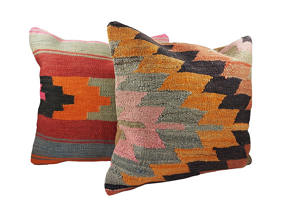Kilim Cushion Pair - Jazz & Fruit