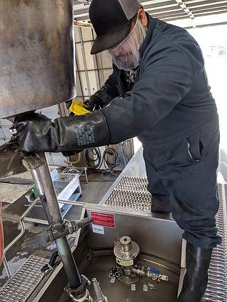 Tank Washer on Tank Centennial Tank Cleaning
