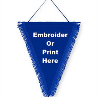SF010 SATIN TRIANGLE PENNANTS
