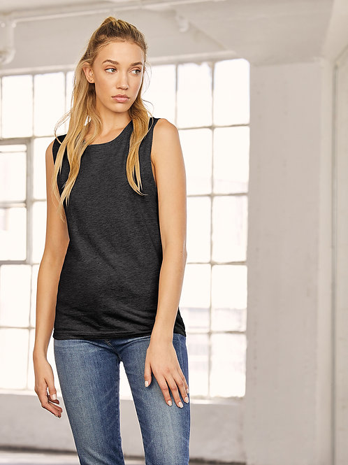 BE118 Unisex Jersey muscle tank top