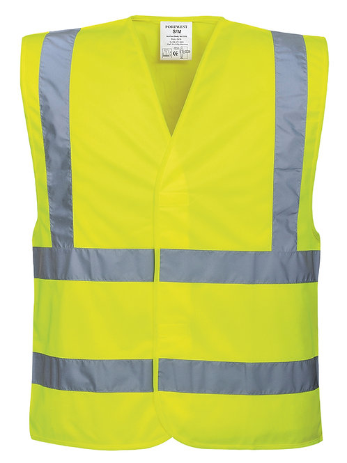 PW002 Hi-vis two-band-and-brace vest (C470)
