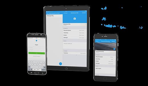 Strada iOS en Android app
