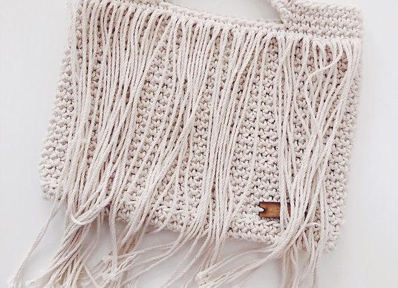 Bolsa clutch de algodón