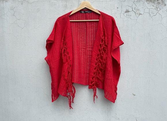 Blusa Folk color rojo