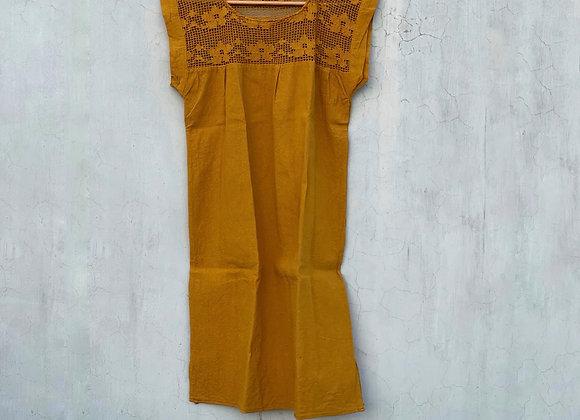 Vestido Xiadani Mostaza