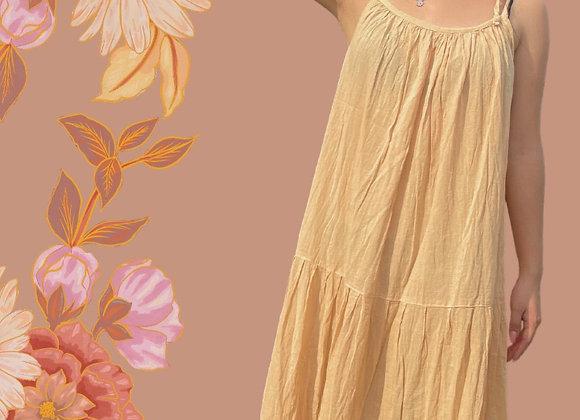 Vestido amarillo de manta