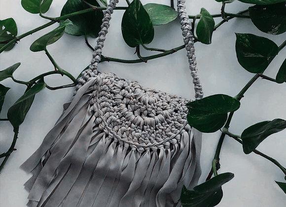 Bohemia: bolsa gris tejida