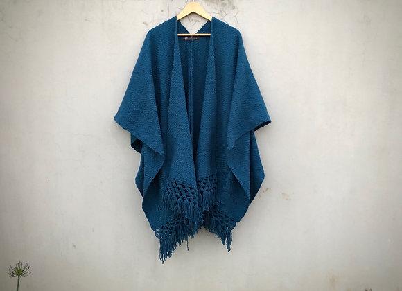 Poncho Azul Ágata