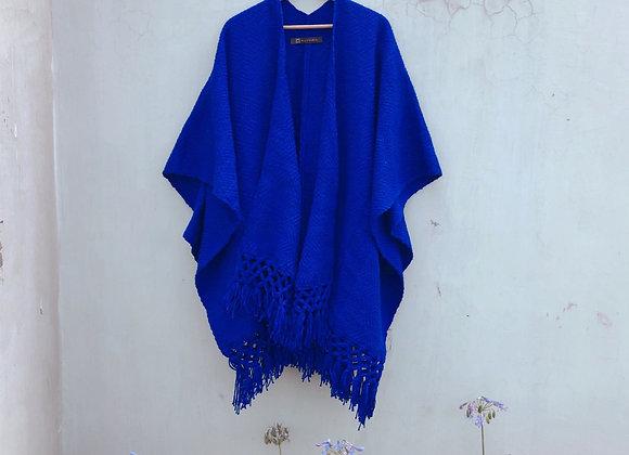 Poncho Azul Rey