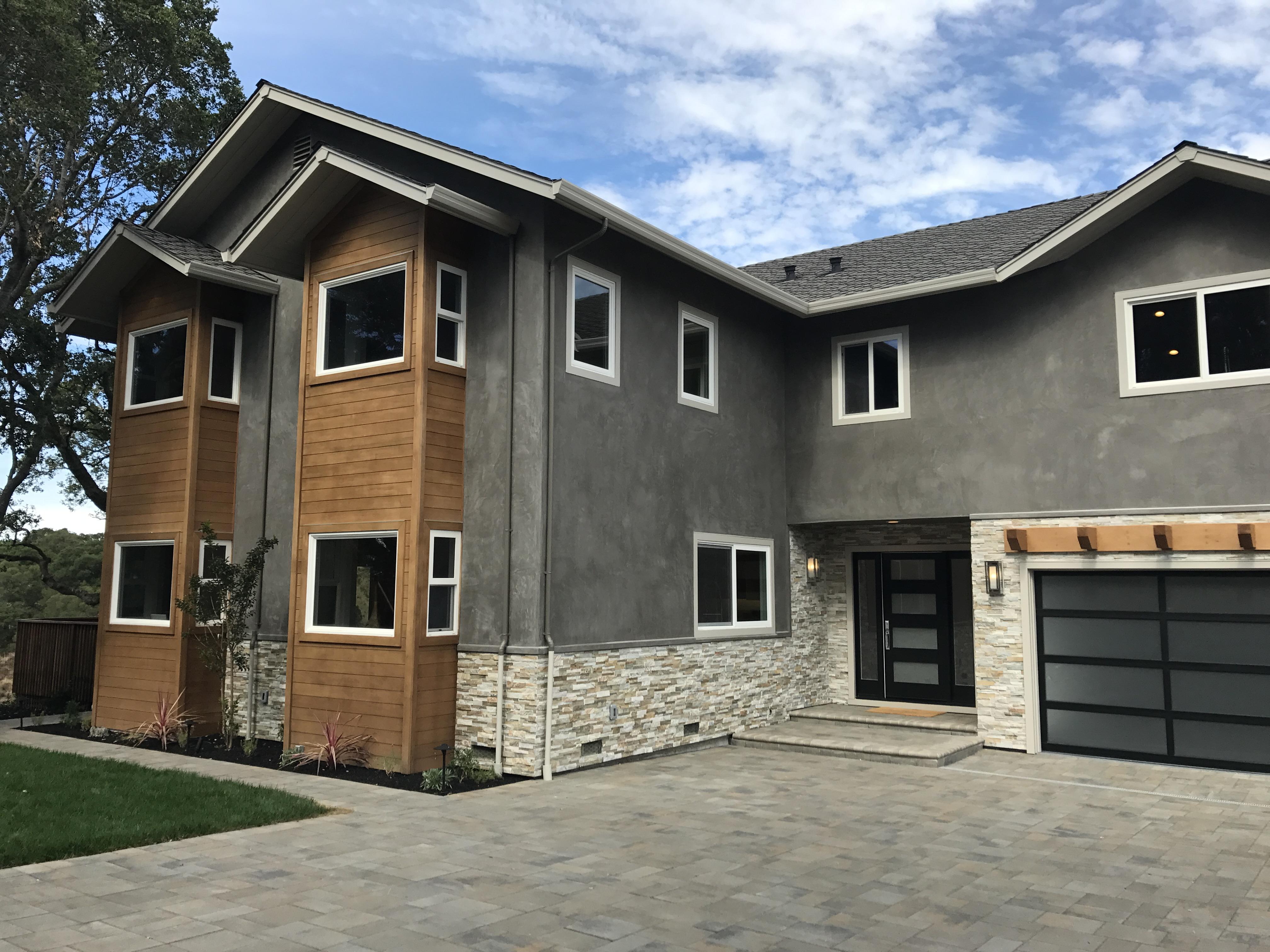 Cedar facade detail