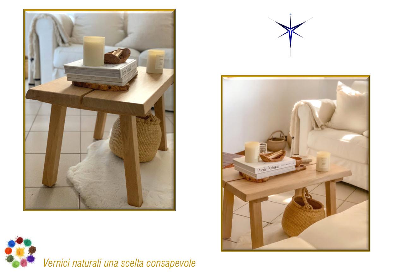 Tavolino in legno Noce