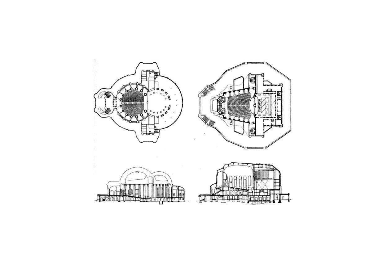 Goetheanum nuovo e vecchio
