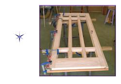 Portone in legno Castagno