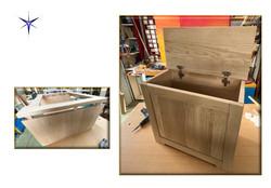 Cassapanca in legno massello Rovere