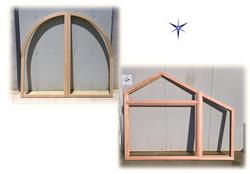 Finestre in legno a trapezio