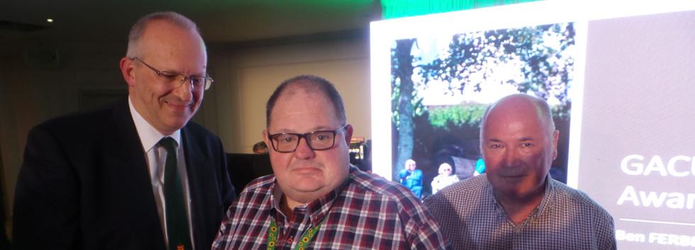 Karl Parkyn with Lifetime GACUS Membership