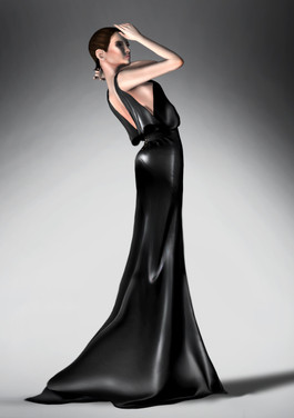 Shadow & Black Gown