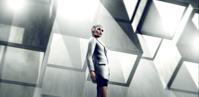 White Jacket Advertisement