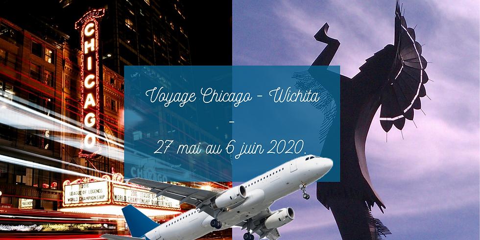 Voyage à Wichita en passant par Chicago REPORTÉ