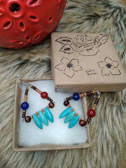 Triangle Turquoise Tears Earrings