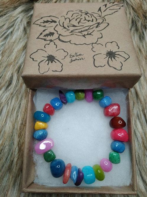 Multi-colored Stone Bracelet