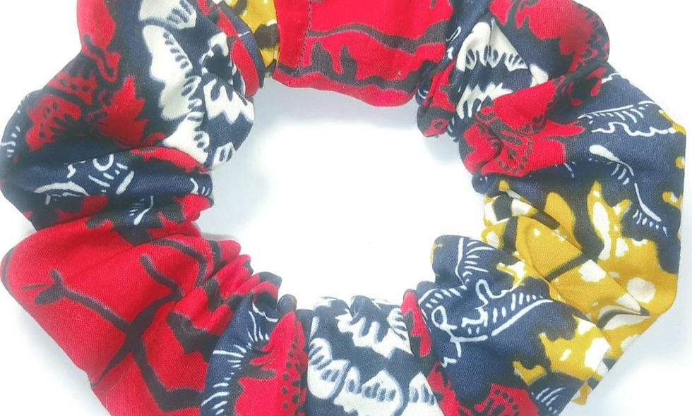 Red Pattern Scrunchie