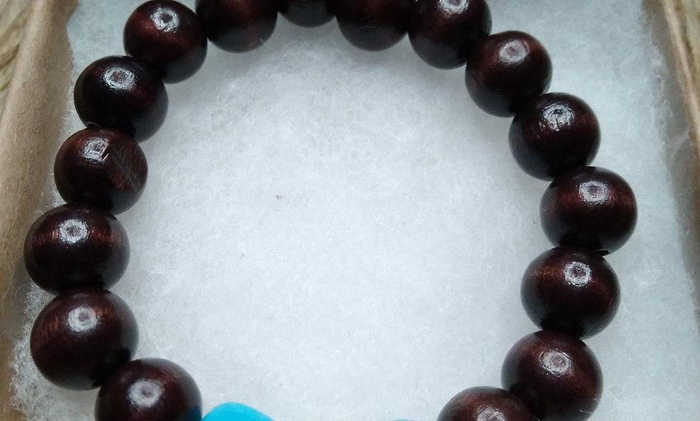 Ebony Trio  & Stone Bracelets