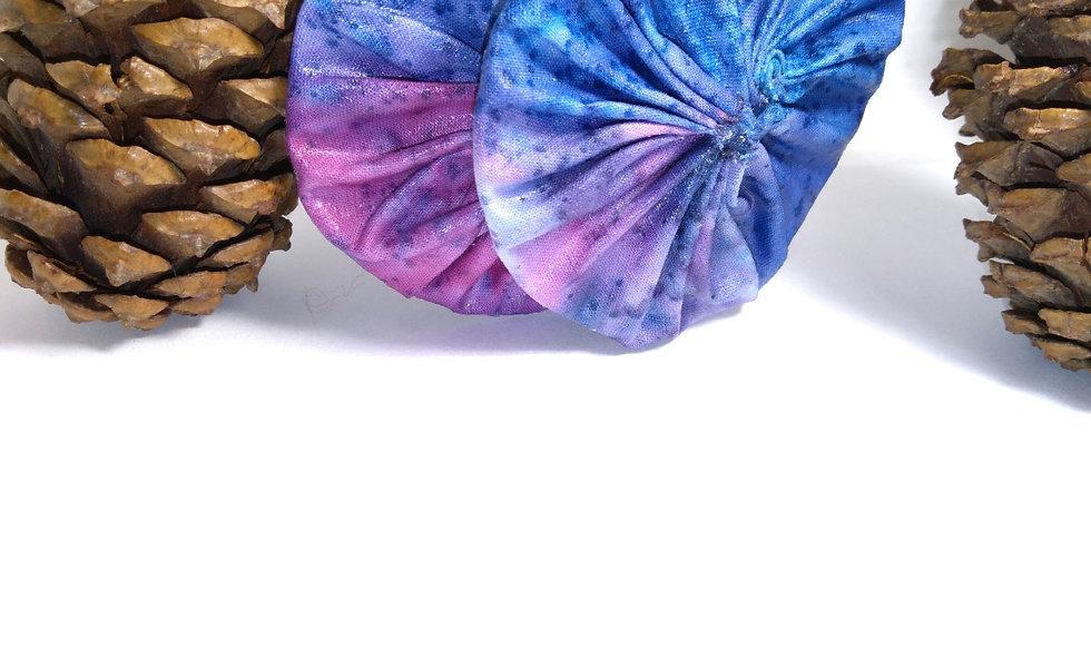 Tie Dye Fabric Earrings