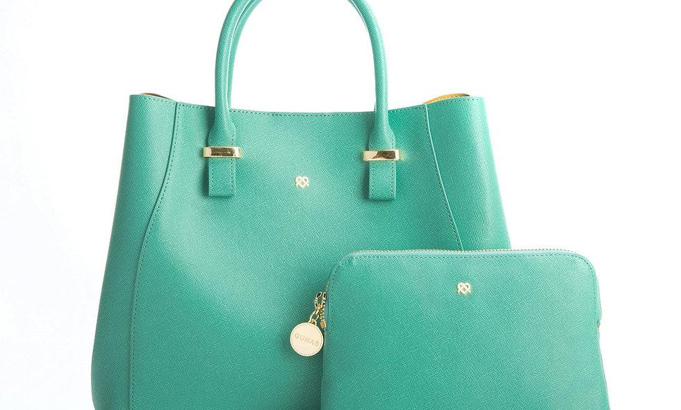 Jane - Tiffany Blue Vegan Leather Satchel