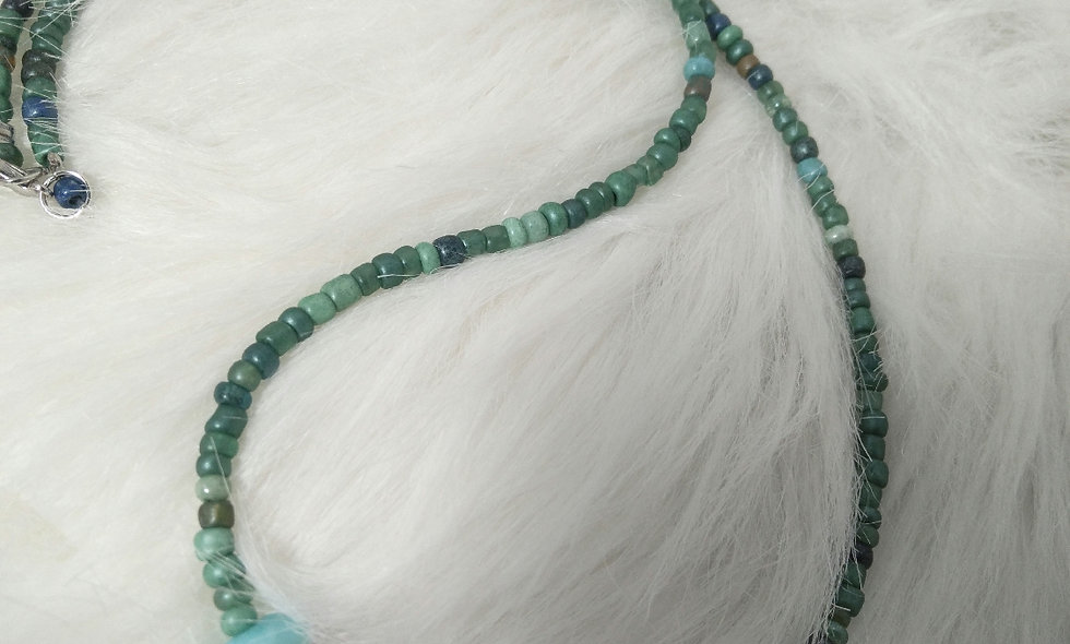Rock and Sea Beaded Necklace