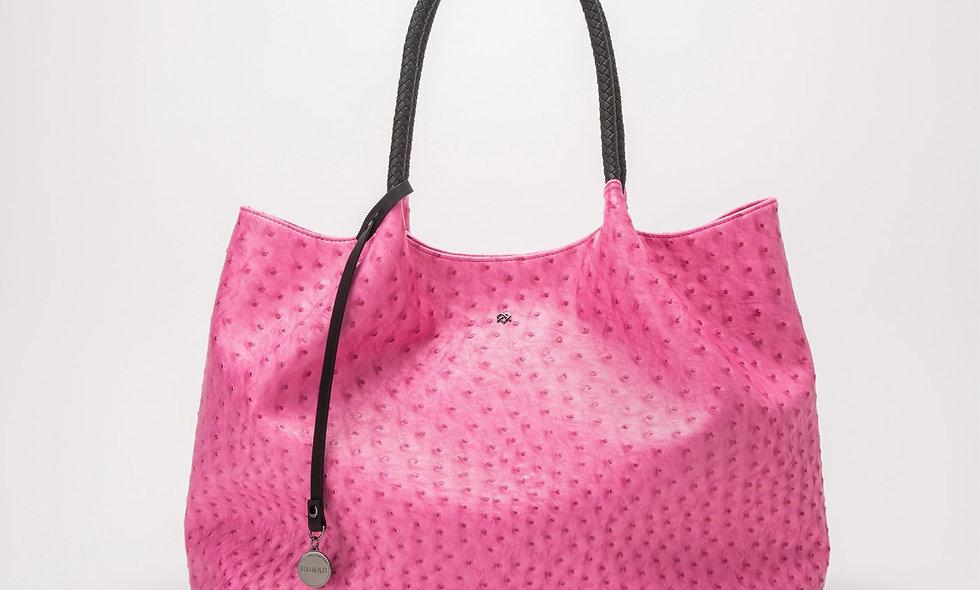 Naomi - Hot Pink Vegan Leather Tote Bag