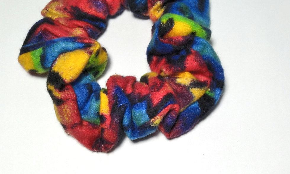 Neon Tie Dye Pattern Scrunchie