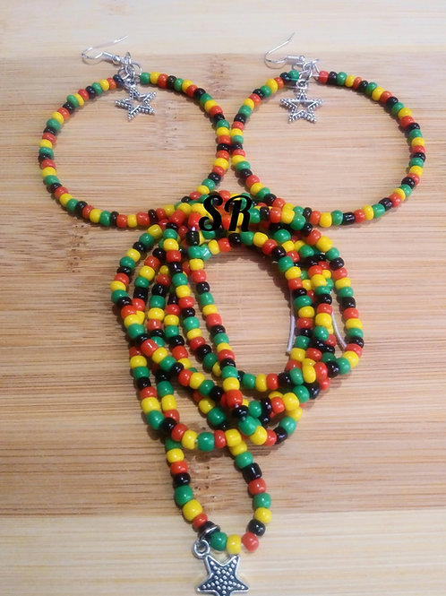 Rasta Color Waist Bead