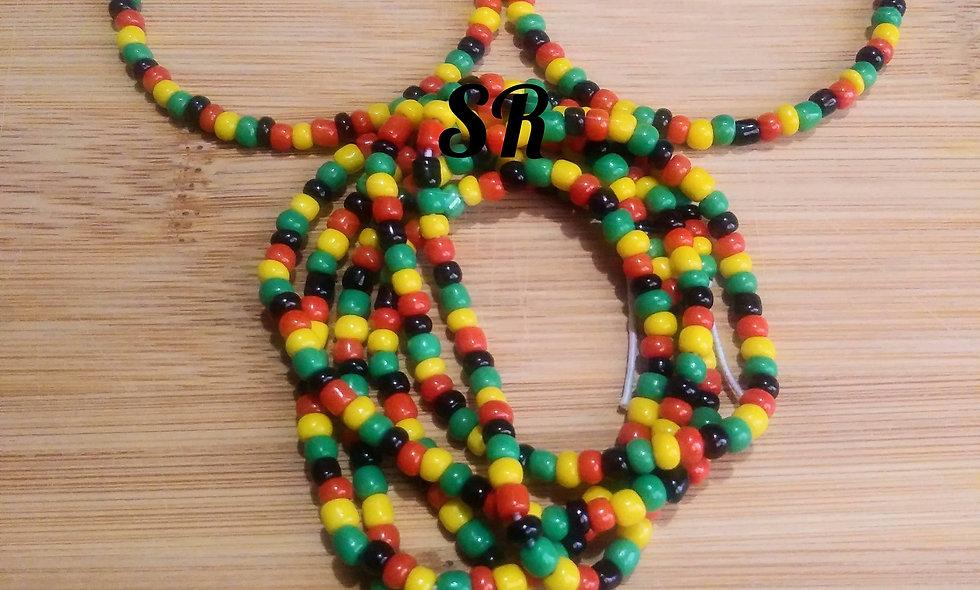 Rasta Color Waist Bead