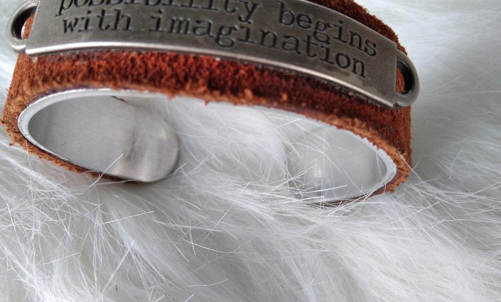 Brown Leather Cuff Bracelet