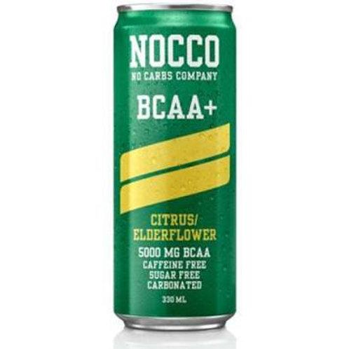 NOCCO Citrus/Elderflower crate of 24 cans.